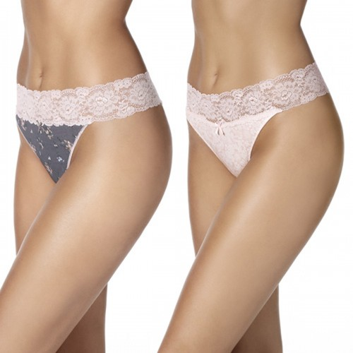 PACK 2 TANGA COQUETTES COTTON LACE ROMANCE