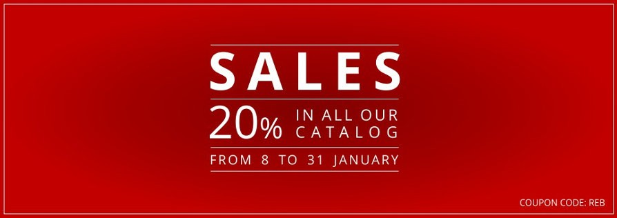 Sale of 20% on all products